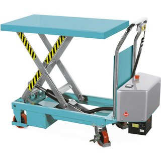 Scheren-Hubtischwagen Ameise®, elektrisch – schneller und belastbarer Helfer Der elektrische Scheren