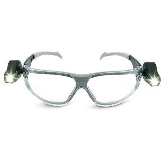Bringt Licht ins Dunkel: die Schutzbrille mit LED Die Schutz-Bügelbrille 3M™ LIGHT VISION™ bietet Ih