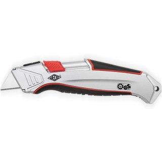 Leichtes Cuttermesser mit Aluminium-Gehäuse und automatischem Klingenrückzug Das Sicherheitsmesser W