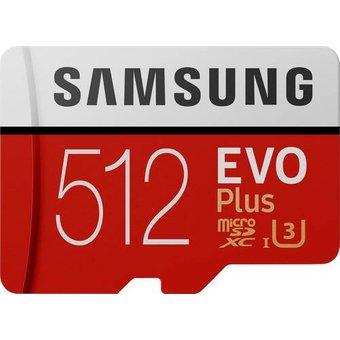 Samsung EVO Plus microSDXC-Karte 512GB Class 10, UHS-I, UHS-Class 3 inkl. SD-Adapter