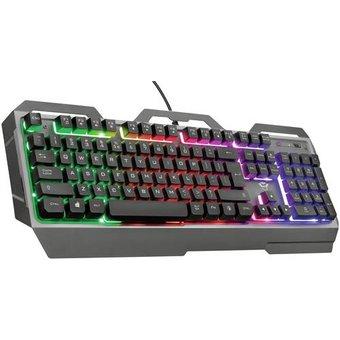 Trust GXT856 TORAC Kabelgebunden, USB Gaming-Tastatur Beleuchtet, Multimediatasten Deutsch, QWERTZ S