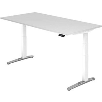 HAMMERBACHER XBHM2E h ouml henverstellbarer Schreibtisch wei szlig rechteckig