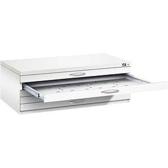 CP 7100 Planschrank wei szlig wei szlig 5 Schubladen