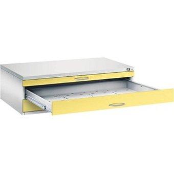 CP 7200 Planschrank gelb grau 3 Schubladen