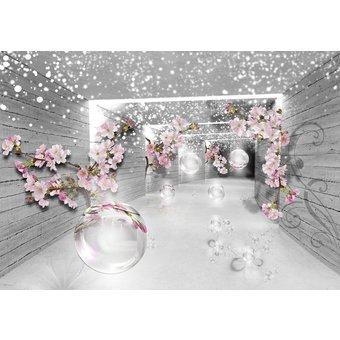 CONSALNET Vliestapete 3D Magischer Tunnel, verschiedene Motivgrössen, für das Büro oder Wohnzimmer