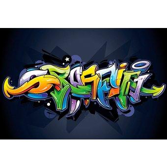 CONSALNET Vliestapete Buntes Graffiti, verschiedene Motivgrössen, für das Büro oder Wohnzimmer