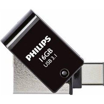 Philips 2 in 1 Black 16GB OTG USB C USB 3.1