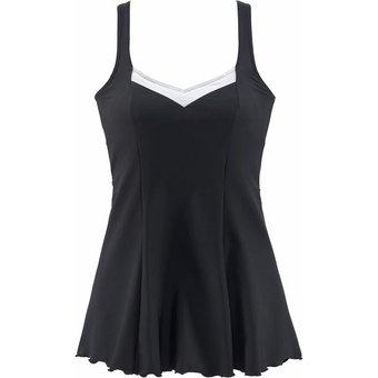 LASCANA Badekleid Damen schwarz-reinweiss Gr.48