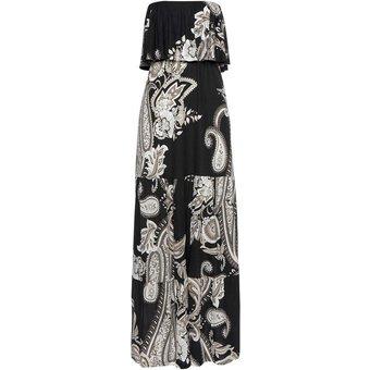 LASCANA Bandeaukleid Damen schwarz-taupe-bedruckt Gr.36
