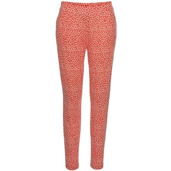 Strandhose Damen orange-creme-bedruckt Gr.40