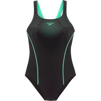 SPEEDO Badeanzug Damen schwarz-grün Gr.38