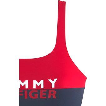 TOMMY HILFIGER Badeanzug Damen rot-marine Gr.M