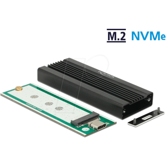 DELOCK 42600 Externes Gehäuse für M.2 NVMe PCIe SSD, USB 3.1