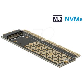 DELOCK 90303 PCI Express x16 x4 x8 Karte zu 1x NVMe M.2 Key M für Server