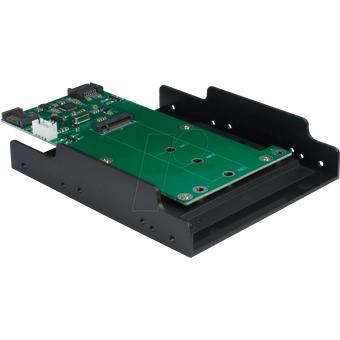 INTER-TECH IT88885380 Trägerrahmen für M2 SATA Festplatte SSD Eingang