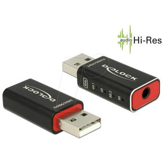 DELOCK 65899 Delock Adapter USB 2.0 Sound 24 bit Hifi HighRes Audio Support