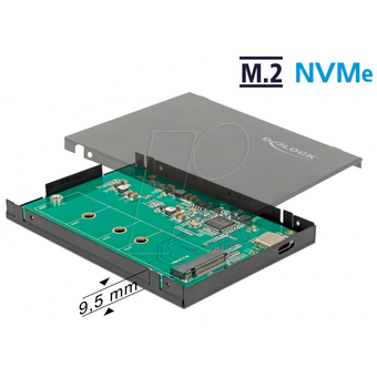 DELOCK 42609 Gehäuse, M.2 NVMe PCIe SSD, USB 3.1