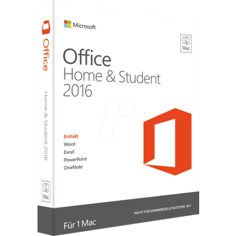 Microsoft OFFICE 2016MAC S Software, Office 2016 Mac Home Student PKC