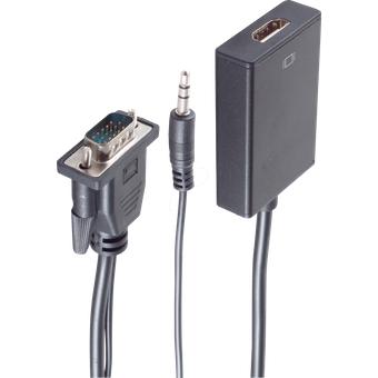 SHIVERPEAKS SHVP BS10-01006 VGA Adapter, VGA Stecker auf HDMI Buchse