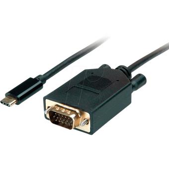 VALUE 11995820 Adapterkabel USB Type-C VGA, 1080p 60 Hz, 1 m