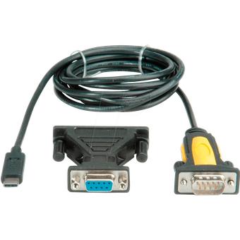 VALUE 12991161 USB Konverter, C Stecker auf RS232 DB25, 1,8 m