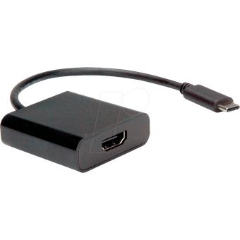 VALUE 12993211 Adapter USB-C HDMI, 4K 60Hz, schwarz, 0,10 m