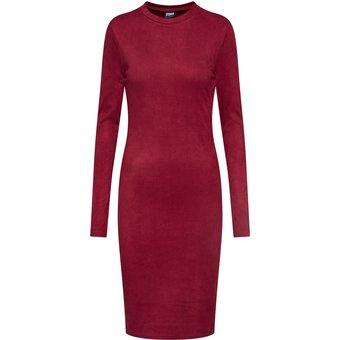 Urban Classics Damen Kleider Ladies Peached Rib Dress LS