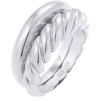 ELLI PREMIUM Ring Bandring, Twisted