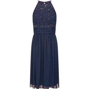 STAR NIGHT Kleider short dress 005 long version chiffon rhinestones
