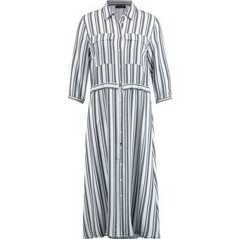 Taifun Kleid Langarm kurz Hemdblusenkleid im Streifen-Design