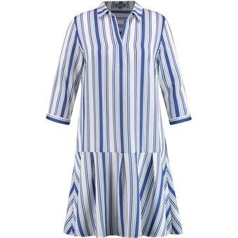 SAMOON Kleid Langarm kurz Hemdblusenkleid in A-Linie