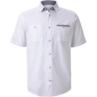 Tom Tailor Blusen Shirts Kurzärmliges Hemd