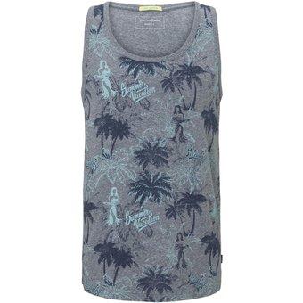 Tom Tailor Denim T-Shirt Top mit Palmen-Muster