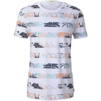 Tom Tailor Denim T-Shirt mit Palmen-Muster