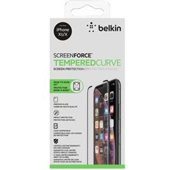 Belkin screenforce temperedcurve screen protector für apple iphone x schwarz