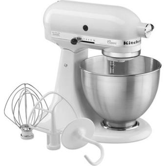 KitchenAid CLASSIC 5K45SS EWH Küchenmaschine weiss