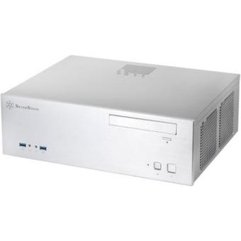 SilverStone GRANDIA GD04 HTPC-Gehäuse mATX, mDTX, ITX USB3.0 silber