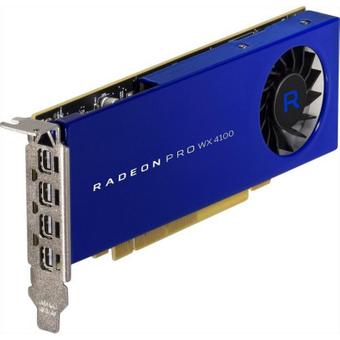 AMD Radeon Pro WX4100 4GB GDDR5 PCIe Workstation Grafikkarte 4x Mini DP