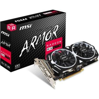 MSI AMD Radeon RX 570 Armor 4G OC 4GB Grafikkarte GDDR5 DVI HDMI 3x DP