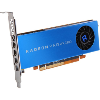 AMD Radeon Pro WX3200 4GB GDDR5 PCIe Workstation Grafikkarte 4x Mini DP