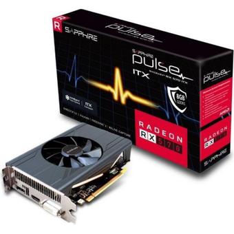 Sapphire AMD Radeon RX 570 Pulse OC ITX 8GB GDDR5 Grafikkarte HDMI DP DVI