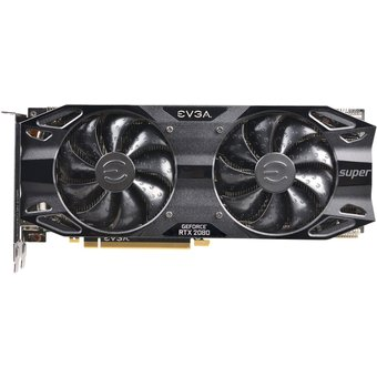 EVGA GeForce RTX 2080 SUPER BLACK GAMING Grafikkarten GF RTX 2080 Super 8GB GDDR6 PCIe 3.0 x16 HDMI, 3 x DisplayPort, USB-C 08G-P4-3081-KR