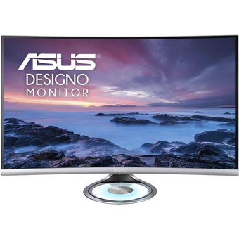 ASUS MX32VQ LED-Monitor gebogen 80.1 cm 31.5 2560 x 1440 WQHD VA 300 cd m 3000 1 4 ms 2xHDMI, DisplayPort Lautsprecher Schwarz, Space-grau Sonderposten