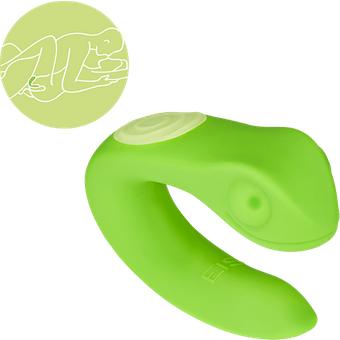 EIS Paarvibrator Gecko aus Silikon, 8,5 cm