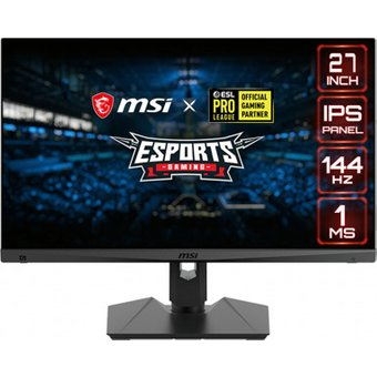 MSI Optix MAG274RDE-021 69 cm 27 Zoll , LED, IPS-Panel, 144 Hz, 1ms, AMD FreeSync, DisplayPort, 2x HDMI