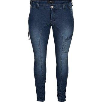 Zizzi Slim-fit-Jeans Grosse Grössen Damen Extra Slim Fit Jeans mit Stretch und regulärer Taille