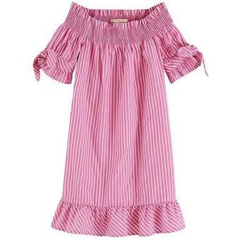 Scotch R Belle Kinder Kleid mit Off-Shoulder