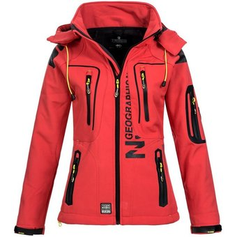 Geographical Norway Softshelljacke GNTislande Damen Regen Jacke mit Kapuze