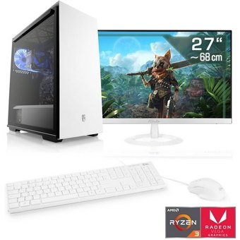 CSL Sprint T8780 Windows 10 Home PC-Komplettsystem 27 Zoll, AMD Ryzen 3, Radeon Vega 8, 16 GB RAM, 1000 GB SSD
