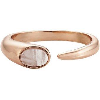 Buckley London Ring Messing rosevergoldet mit Perlmutt
